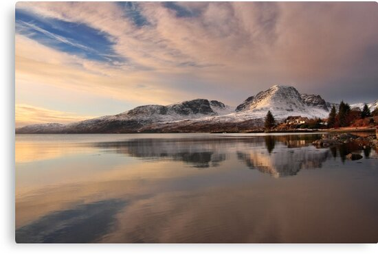 A Winters Reflection, The Applecross Hills ,Scotland. by PhotosEcosse