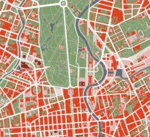 Berlin map classic Sticker