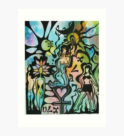 Hidden Lady Art Print
