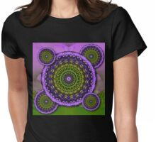 Floral Kaleidoscopes Womens Fitted T-Shirt