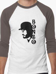 SOLID BLACK BONZO Men's Baseball ¾ T-Shirt