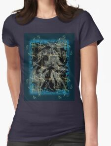 Retro Meets Grunge Womens Fitted T-Shirt
