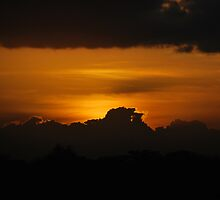 Sun goes down on Tsavo West by hybaby