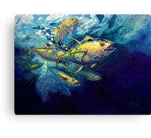 Yellow Fins Canvas Print