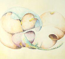 "Odalisque - watercolor - 10"" x 8"" by Dave Martsolf"