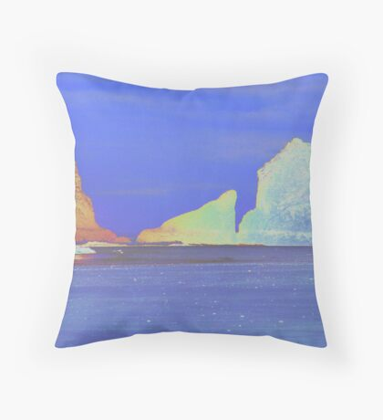 Oceanside Rocks Throw Pillow