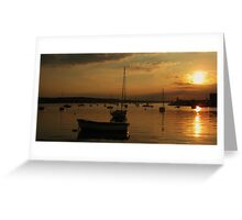 Skerries Harbour Sunset  Greeting Card