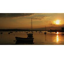Skerries Harbour Sunset  Photographic Print