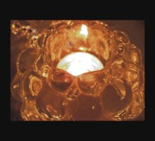 warm candle light through glass grapes Kids Clothes