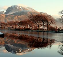 Ben Nevis and The Caledonian Canal by mykanmo