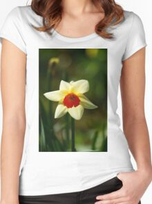 Backlit Narcissus Women's Fitted Scoop T-Shirt