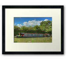 Narrowboat Derwent6 - Stoke Bruerne Framed Print