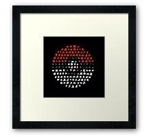 pokeball logo Framed Print
