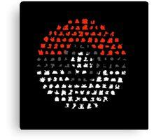 pokeball logo Canvas Print