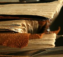 Stacked Antique Books by PendletonPhoto