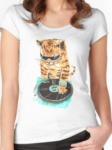 Scratch Master Kitty Cat Women's Fitted Scoop T-Shirt