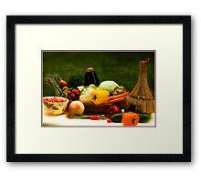 Lovely Veggies Framed Print