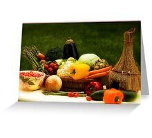 Lovely Veggies Greeting Card