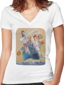 March Hare Women's Fitted V-Neck T-Shirt