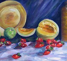 Melons with Strawberries by Richard Nowak