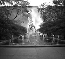 Chicago Art Institute Fountain by Rebecca Luering