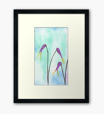 Scissors Flowers Framed Print