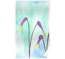 Scissors Flowers Poster