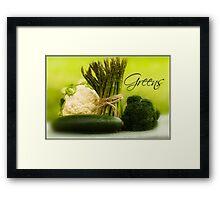 Thinking Green Framed Print