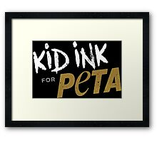 Kid Ink for Peta Framed Print