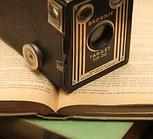 Vintage Camera and Books by PendletonPhoto