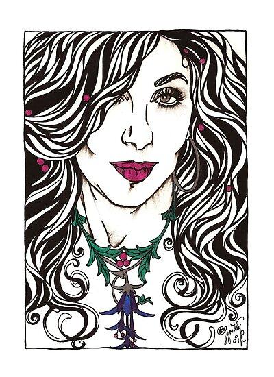 Fuschia Necklace by Lynette K.
