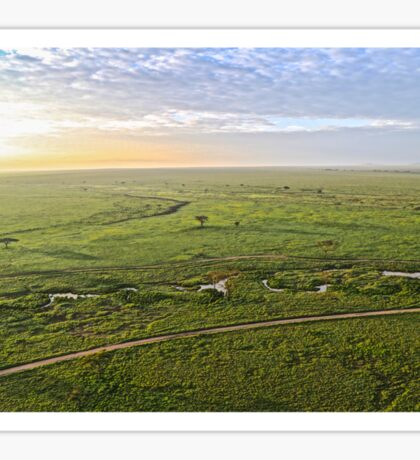 Serengeti from the air Sticker