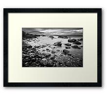 Rocks on Cattle Point, San Juan Island Framed Print