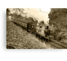 Caledonian Railway 419 Journey (Sepia) Canvas Print