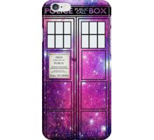 Starry TARDIS. iPhone Case/Skin