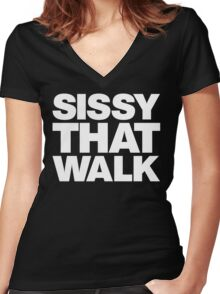 Sissy That Walk Women's Fitted V-Neck T-Shirt