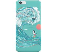 surfing zebra iPhone Case/Skin