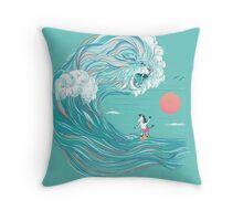 surfing zebra Throw Pillow