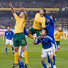 Australia 2 vs Japan 1 - World Cup Qualifiers by Clinton Plowman