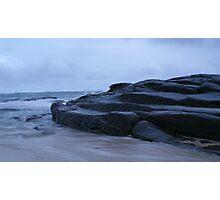 Ocean Bathed Rock Steps Photographic Print