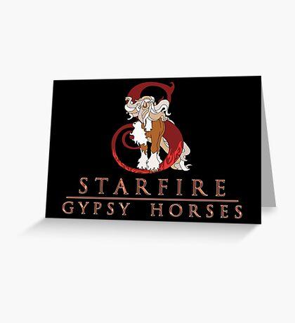 Starfire Gypsy Horses Logo! Greeting Card
