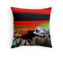 Arch Rock Oregon Coast Throw Pillow