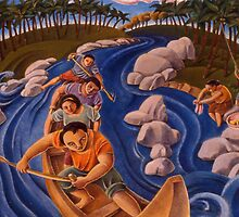 Shooting the rapids by Lito Yonzon