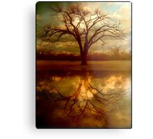 "A Place To ""Reflect"" Metal Print"