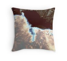 Waves At Arch Rock Throw Pillow