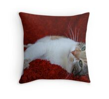 Too Sexy for Her Fur Throw Pillow