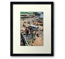 Downtown chaos Framed Print