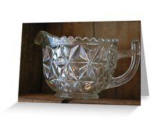 Glass jug Greeting Card