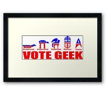 VOTE GEEK Framed Print