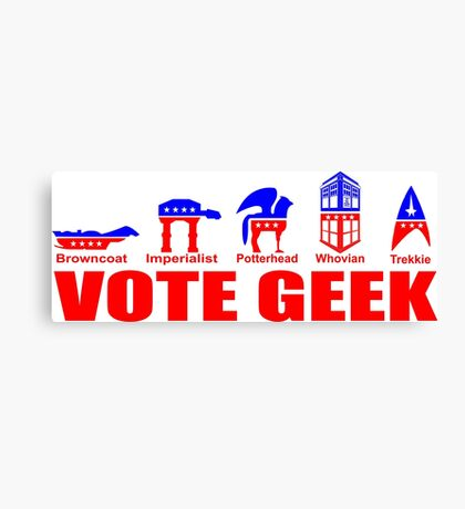 VOTE GEEK Canvas Print